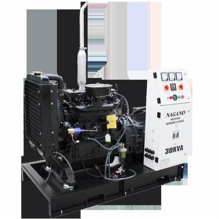 Gerador de energia a Diesel 380V Trifásico 30 kVA partida elétrica Aberto c/ QTA Nagano - ND30000E3QTA