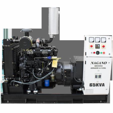 Gerador de energia a diesel 65 kVA trifásico 220V - partida elétrica Aberto  - ND65000EA3 - Nagano