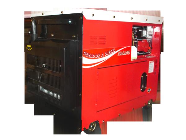 Gerador de energia a Diesel Monofásico 6.0 KVA P. Elétrica Silenciado - ND7000ES - Nagano