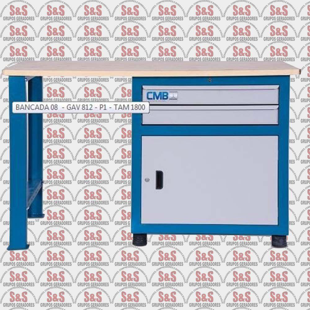 Gaveteiro Modular Grande com 1 Porta e 2 Gavetas - GAV 812