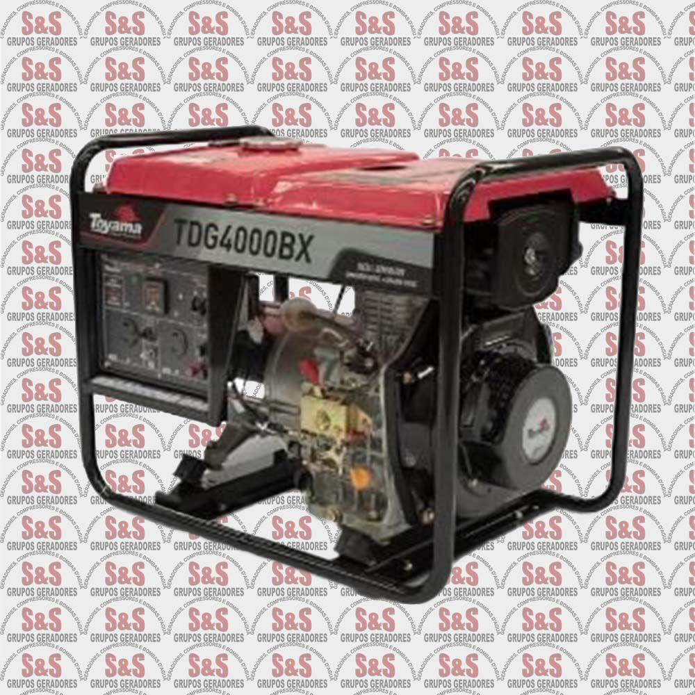 Gerador à Diesel 4T TDG4000BX Mono 3,3KW Bivolt - Toyama