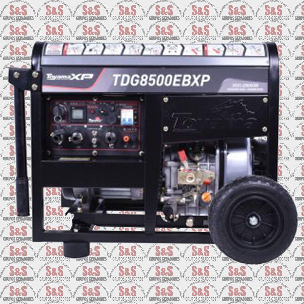 Gerador a Diesel - Toyama - TDG8500EBXP / 6,5 KVA 7 kVA / Partida elétrica / Monofásico / 110/220 Volts / com Capacitor