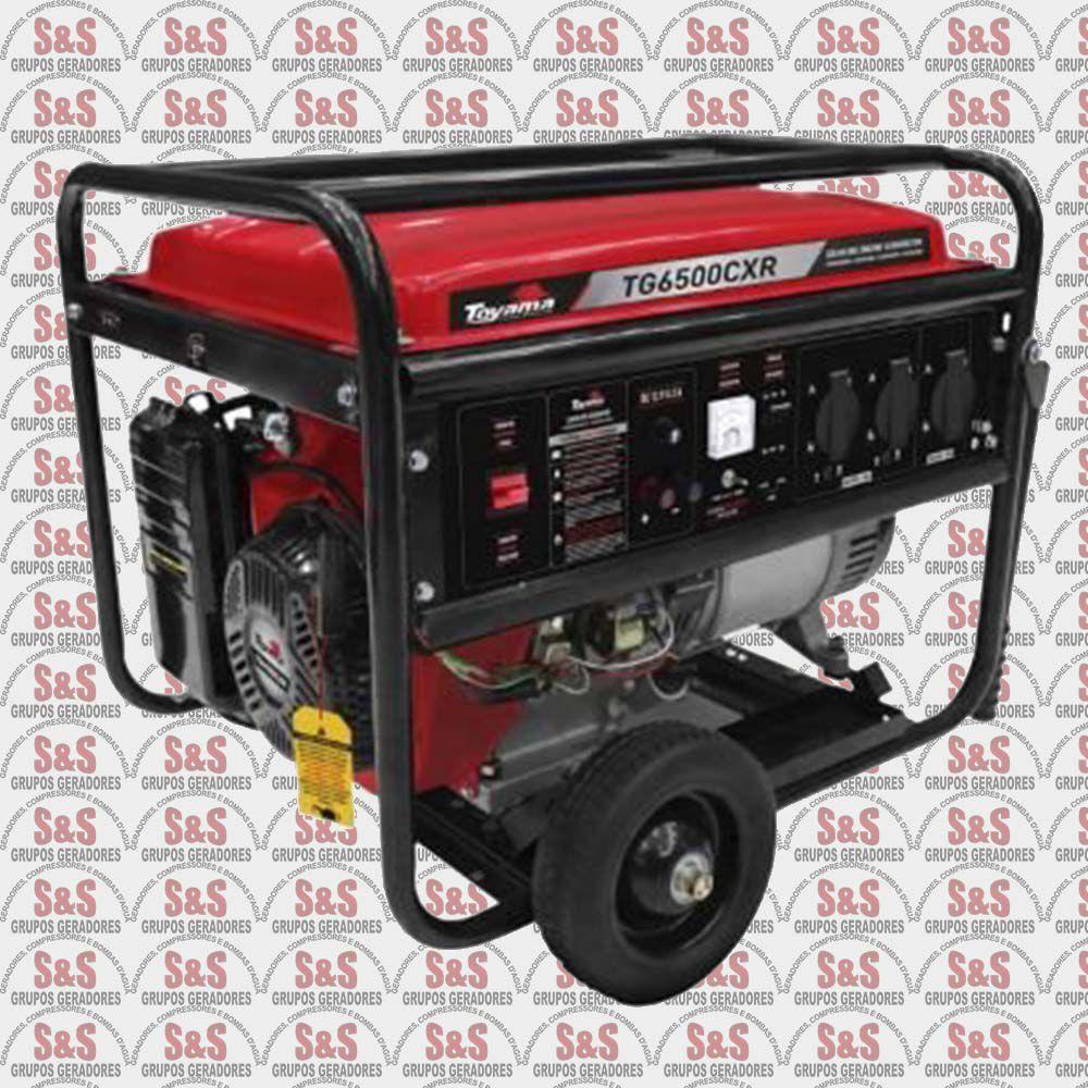 Gerador a Gasolina-06kva-Bivolt-4T-TG6500CXR-Part. manual -Toyama