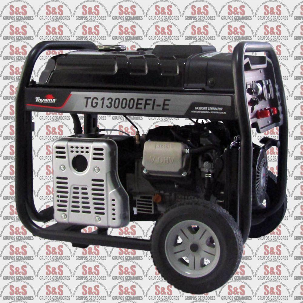 Gerador a gasolina-Injeção Eletrônica-Toyama-TG13000EFI-E-XP