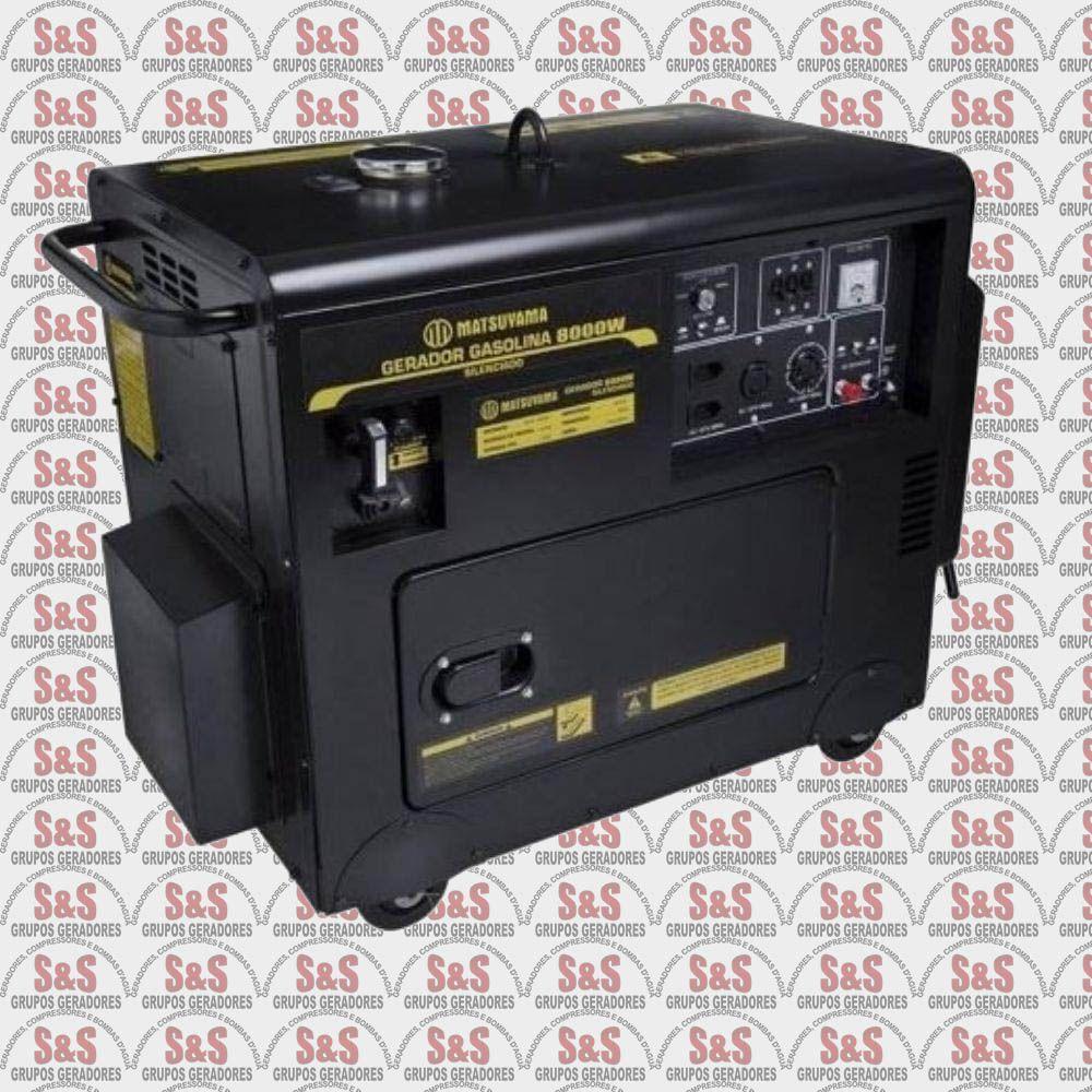 Gerador a Gasolina Silienciado 8KVA - Trifásico 380V - Partida Eletrica - GGSA 8000 - Matsuyama