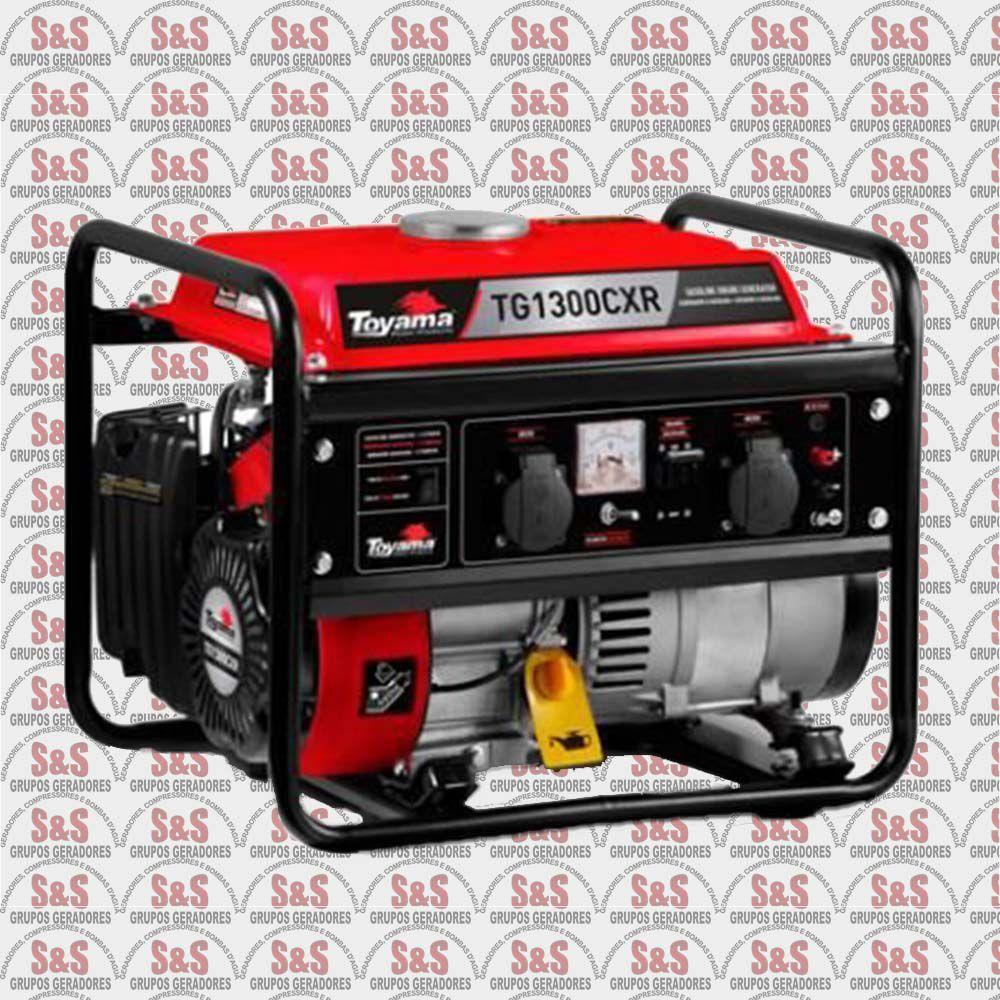 Gerador de energia 1,25 Kva à gasolina bivolt partida manual - TG1300CXR-Toyama