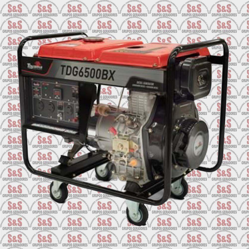 Gerador de energia 5,5 kva à diesel bivolt partida manual - TDG6500BX
