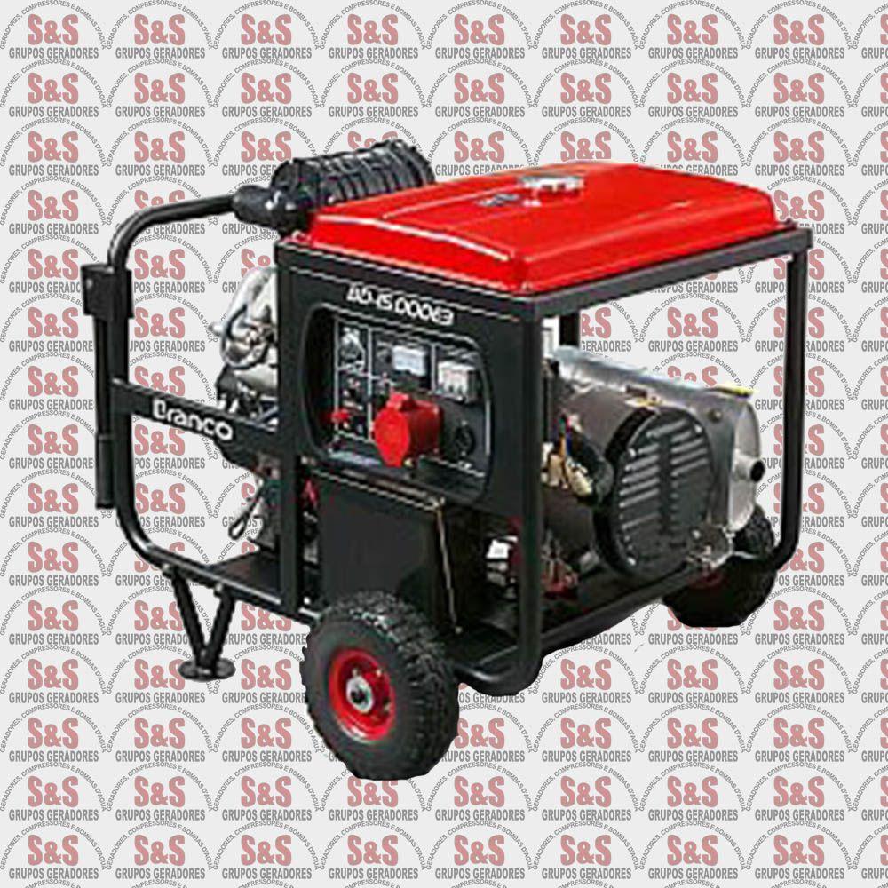 Gerador de Energia a Diesel 14 KVA - Trifásico 220V - Partida Elétrica - BD15000E3G2 - Branco