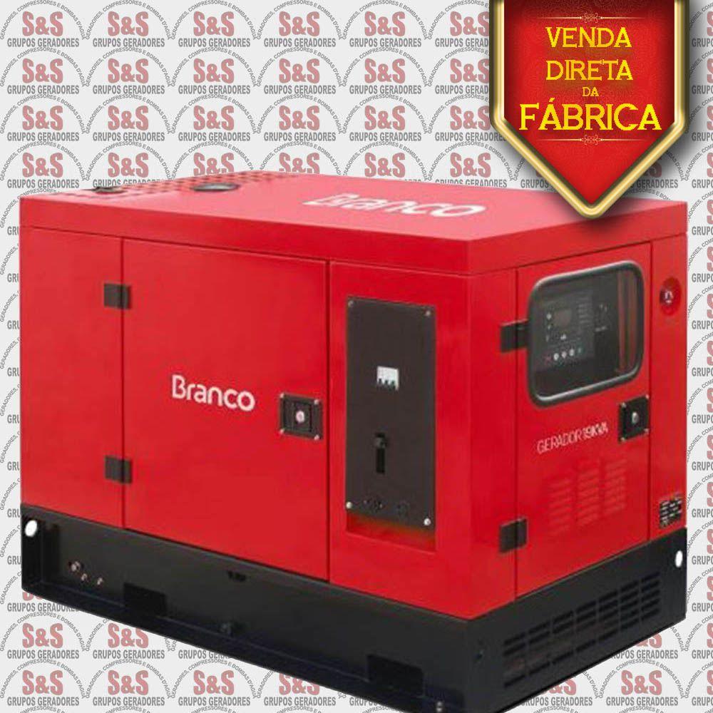 Gerador de Energia a Diesel 19 KVA com ATS - Trifásico 380V - Partida Elétrica - Silenciado - BD19000E3S - Branco
