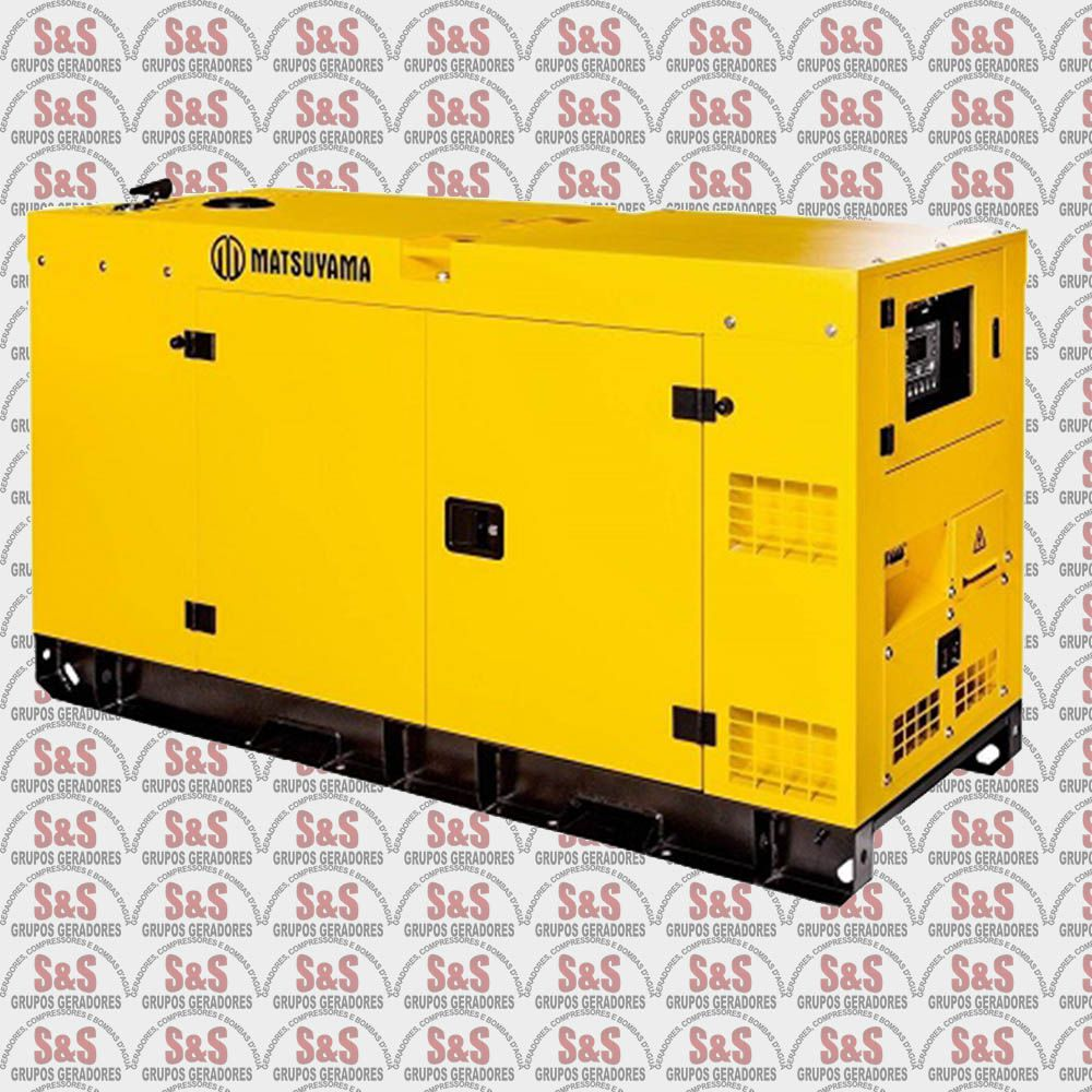 Gerador de Energia a Diesel 25KVA Silenciado - Trifásico 380V - Partida Eletrica - 25KVA - Matsuyama