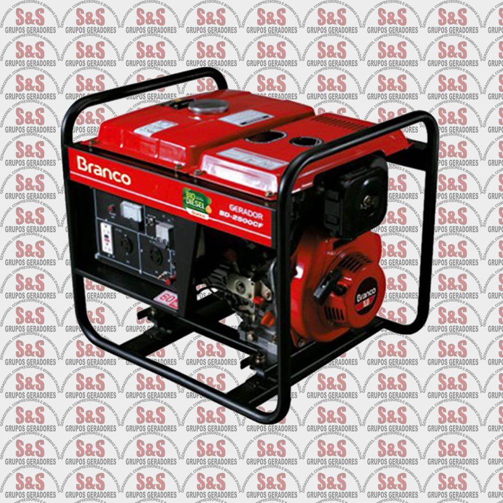 Gerador de Energia a Diesel 2.2 KVA - Monofásico - Partida Elétrica - BD2500E - Branco