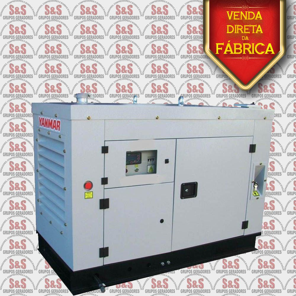 Gerador de Energia a Diesel - 30 Kva - Trifásico - Silent - YBG30TE - Yanmar