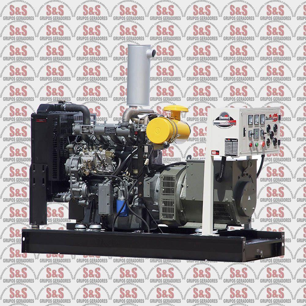 Gerador de Energia a Diesel 380V Trifásico 62,5 KVA – Refrigerado a Água – Partida Elétrica - TDMG60E3 - Toyama