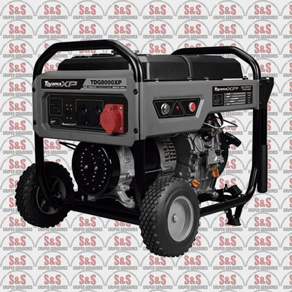 Gerador de Energia a Diesel 380V Trifásico 8 KVA - Partida Elétrica - TDG8000EXP3 - Toyama