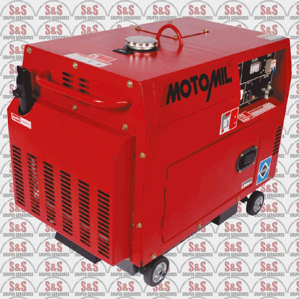 Gerador de Energia a Diesel 5 KVA - Trifásico - Partida Elétrica - MDGT5000ATS - Motomil