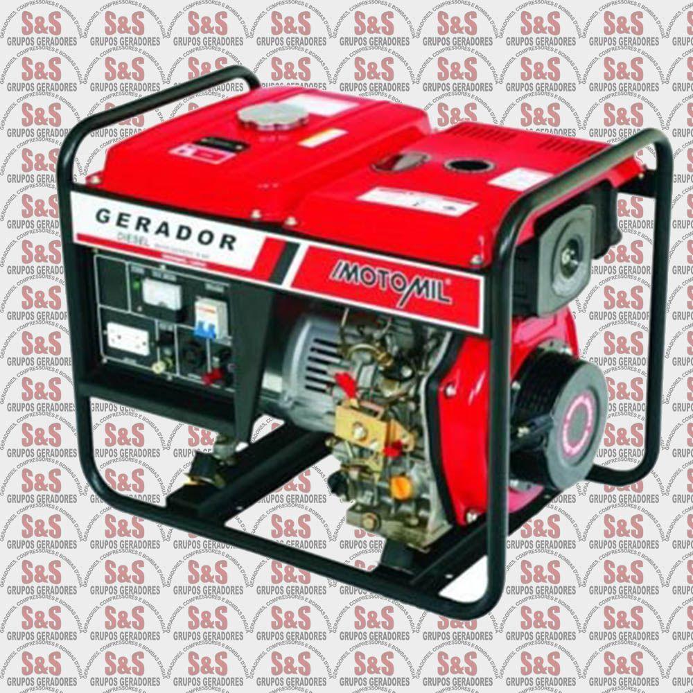 Gerador de Energia a Diesel 5KVA - 127/220V Trifásico - Partida Elétrica - MDGT5000CLE - Motomil