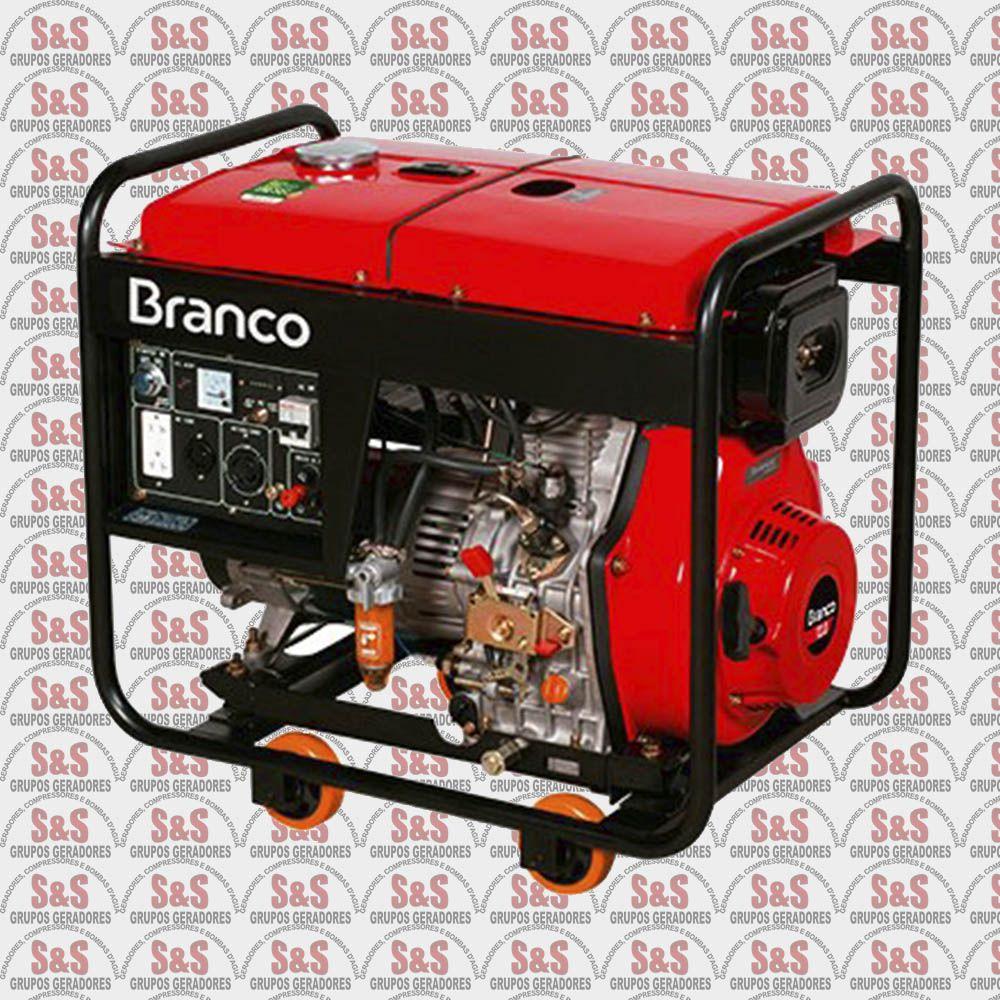 Gerador de Energia a Diesel 6.5 KVA - Monofásico - Partida Elétrica - BD8000E - Branco
