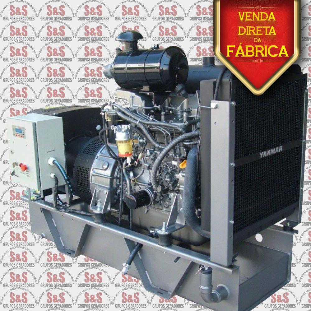 Gerador de Energia a Diesel - 7,5 Kva - Trifásico -  Aberto - YBG08TE - Yanmar