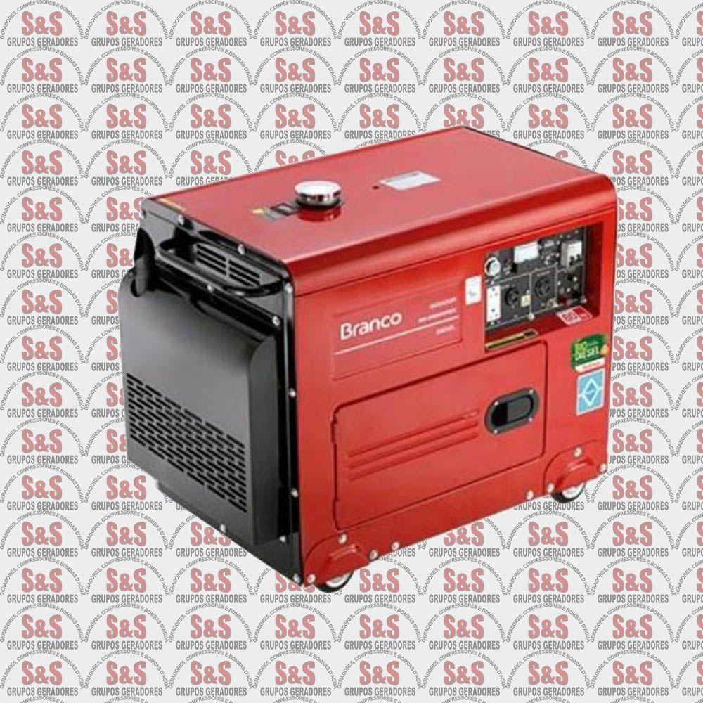 Gerador de Energia a Diesel - Monofásico - 10,0 CV - 4,0 KVA - Partida Elétrica - BD6500SE - Branco