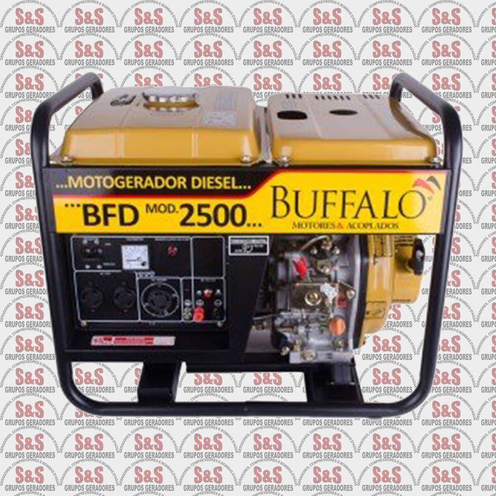 Gerador de Energia a Diesel - Monofásico 2,5 KVA Partida Manual - BFD2500 - Buffalo