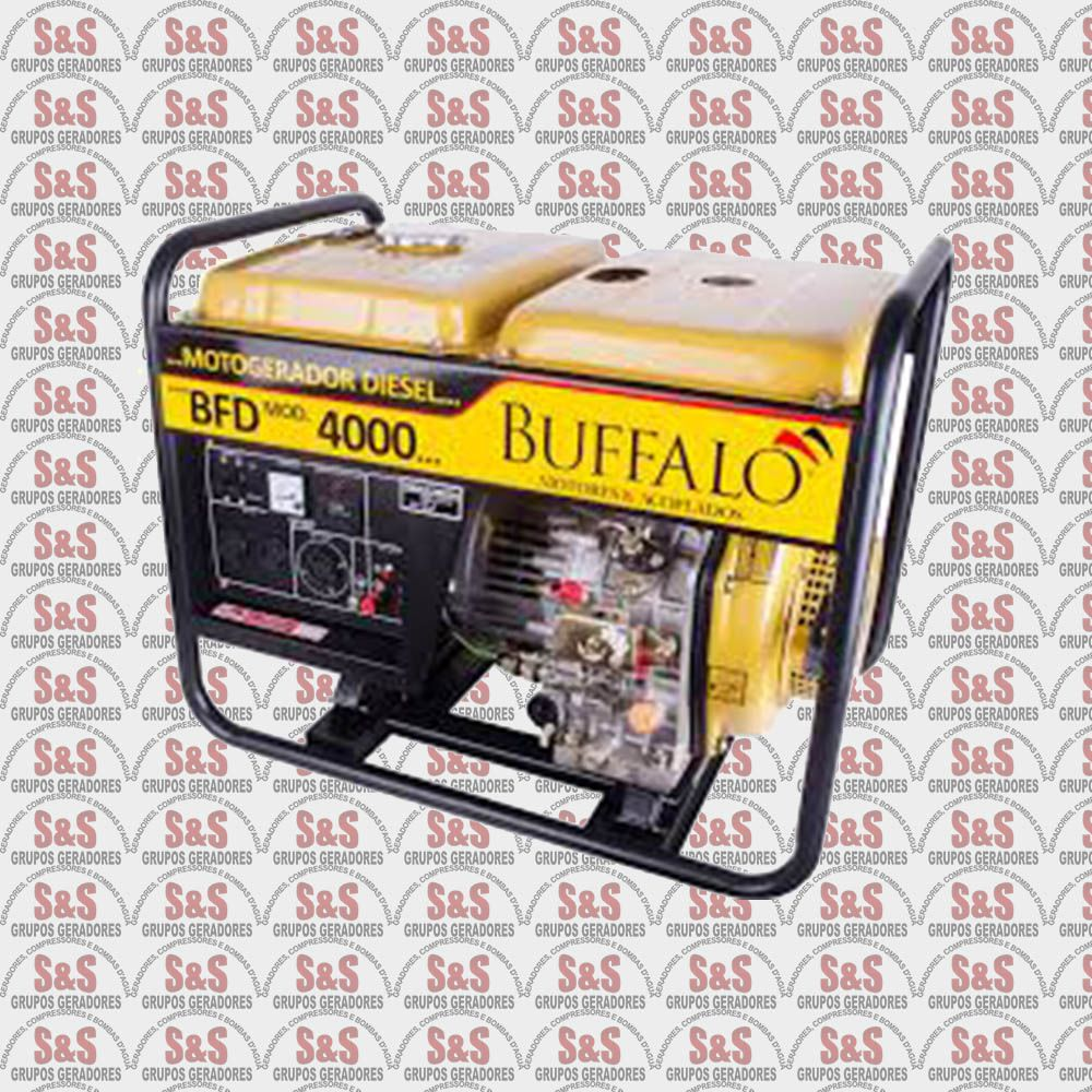 Gerador de Energia a Diesel - Monofásico 4 KVA Partida Elétrica - BFDE4000 - Buffalo