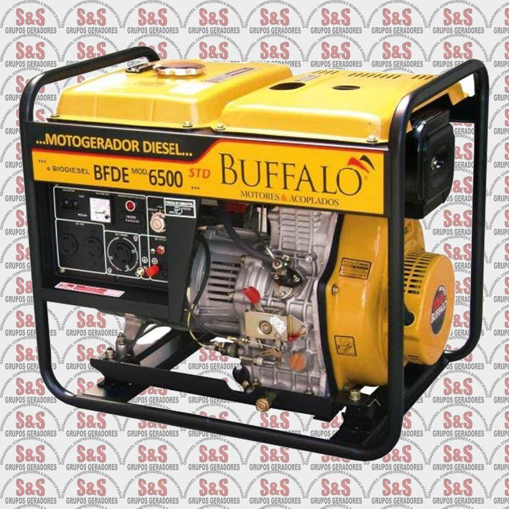 Gerador de Energia a Diesel - Monofásico 6,5 KVA - Partida Elétrica - BFDE6500STD - Buffalo