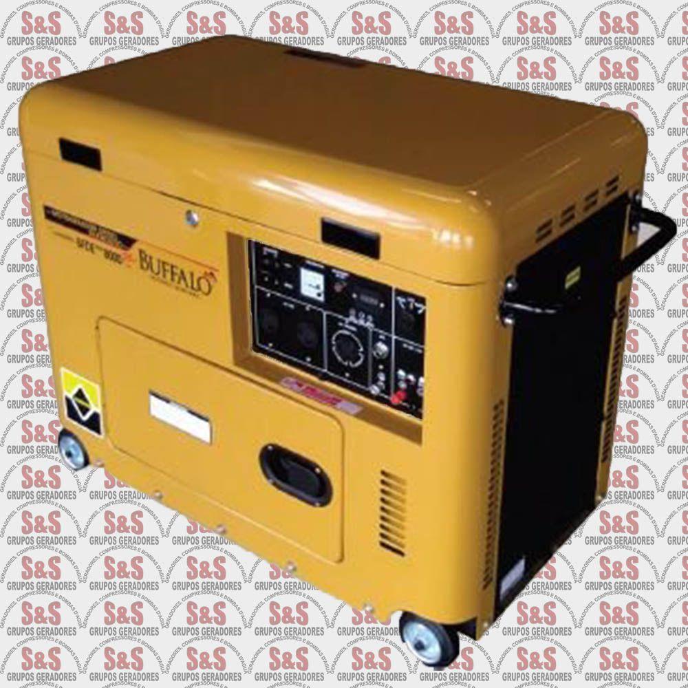 Gerador de Energia a Diesel - Monofásico - Partida Elétrica -  BFDE 8000 PLUS - Buffalo