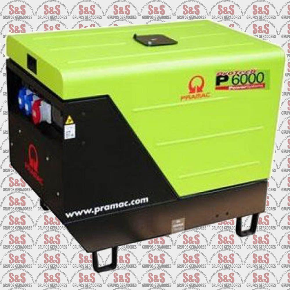 Gerador de Energia a Diesel - Monofásico - Partida Eletrica - P6000 - Pramac