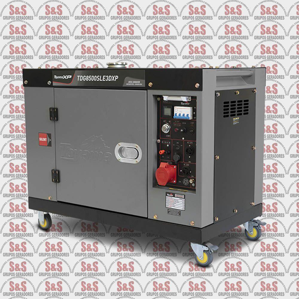 Gerador de Energia a Diesel-Monofasico -TDG8500SEXP- Toyama