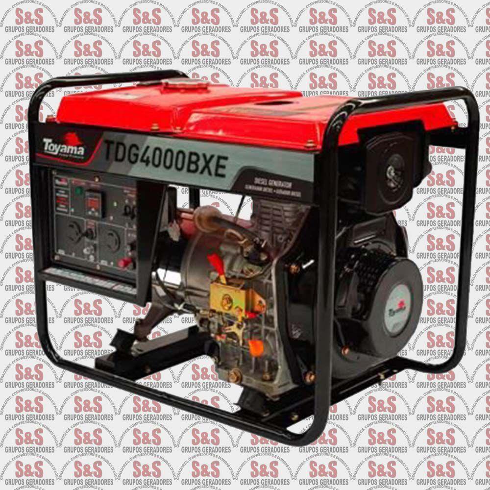Gerador de Energia a Diesel  Toyama TDG4000BXE 3.3 kva-Partida Elétrica
