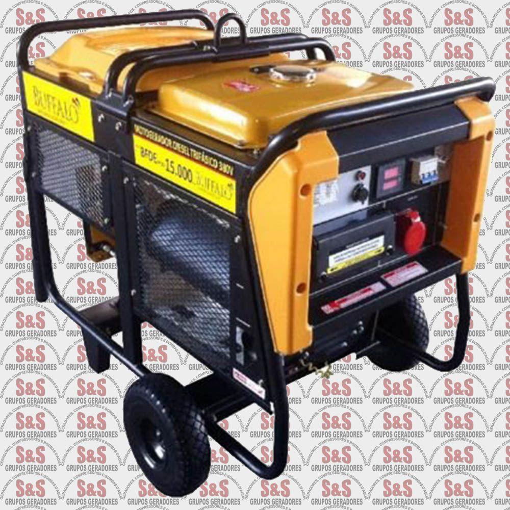 Gerador de Energia a Diesel - Trifásico 15 KVA - Partida Elétrica - BFDE15000 380 V - Buffalo