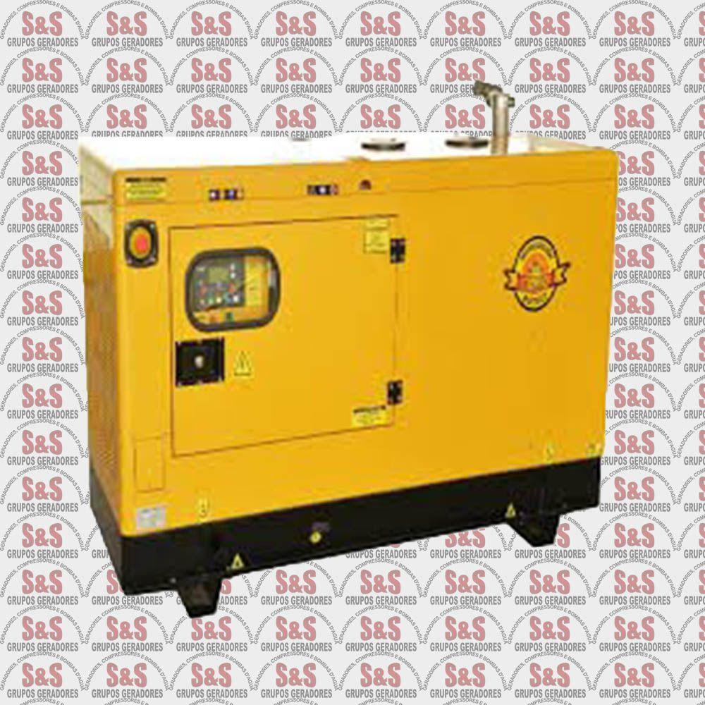 Gerador de Energia a Diesel - Trifásico 15 KVA - Partida Elétrica - BFDE15000 380 V - Silencioso - Buffalo