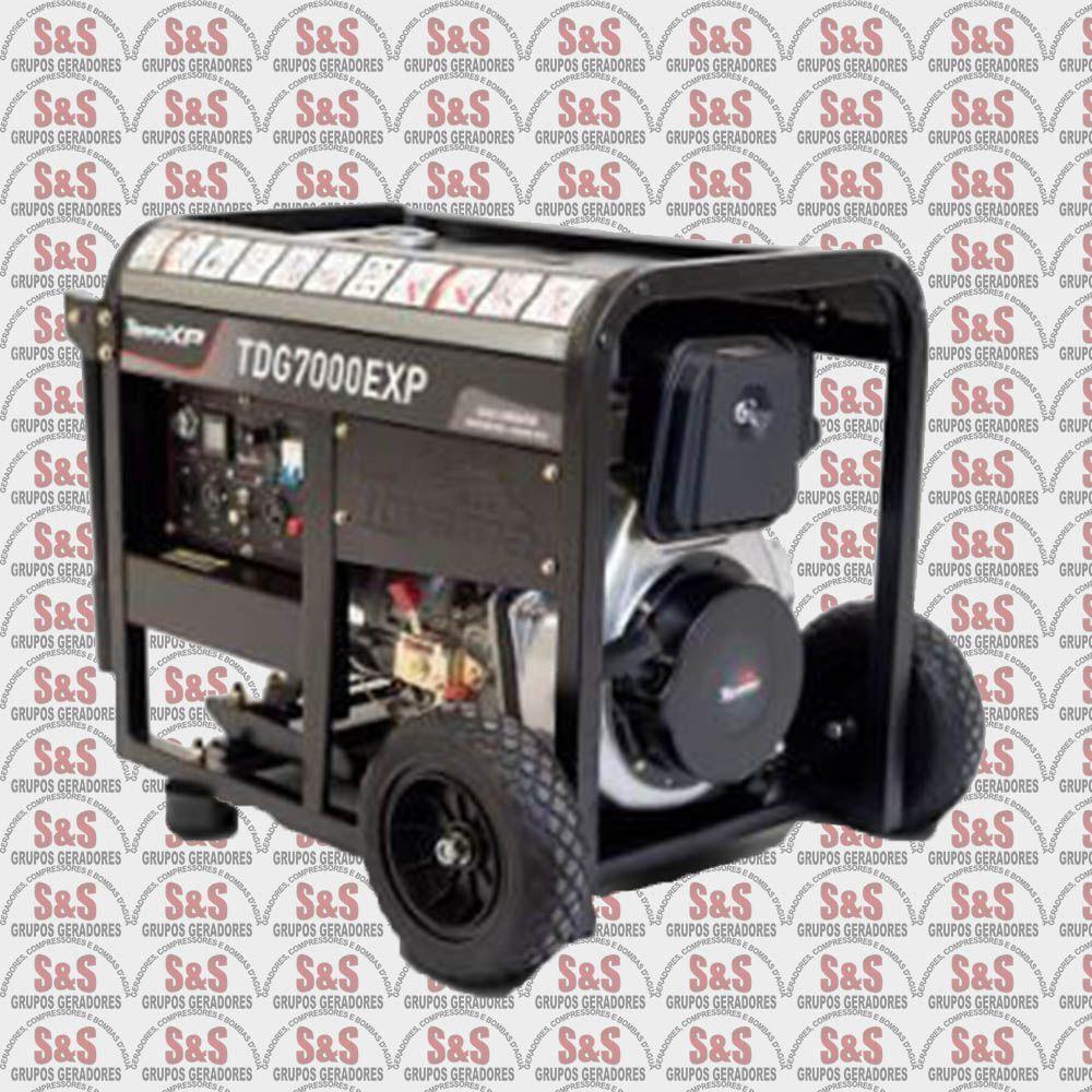 Gerador de Energia a Diesel- Trifasico 220V -  TDG7000E3DXP - ATS READY - Toyama