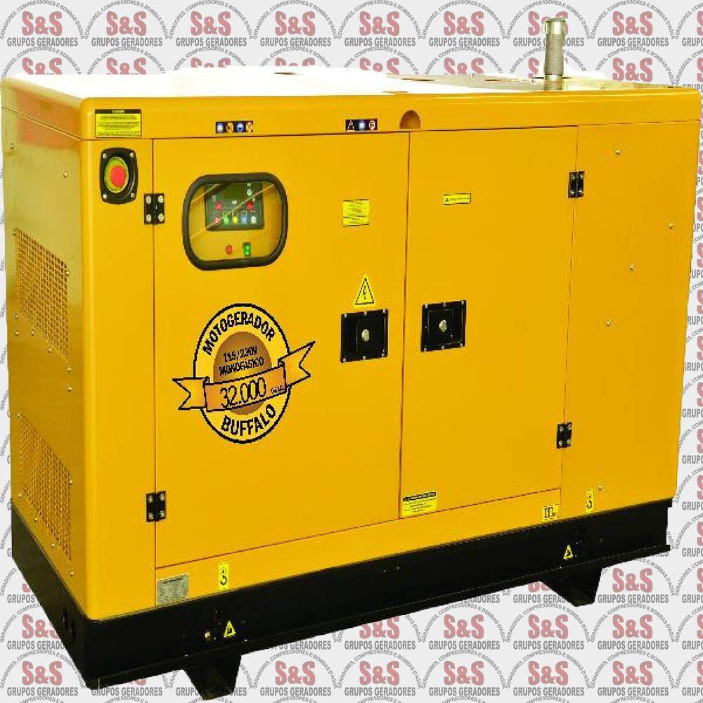 Gerador de Energia a Diesel - Trifásico 25 KVA - Partida Elétrica - BFDE25000 380 V - Silencioso - Buffalo