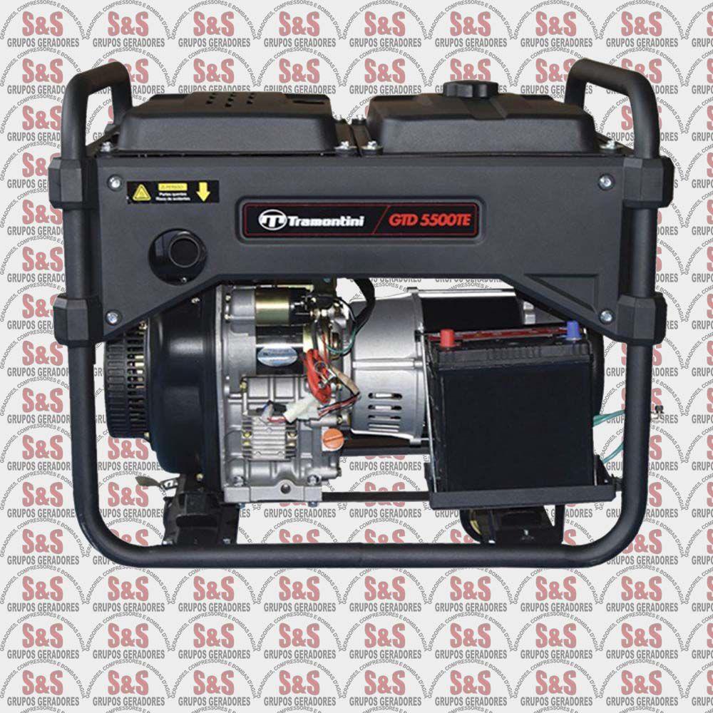 Gerador de Energia a Diesel  Trifásico 5,5 KVA Partida Elétrica - GTD5500TE - 220 Volts - Tramontini