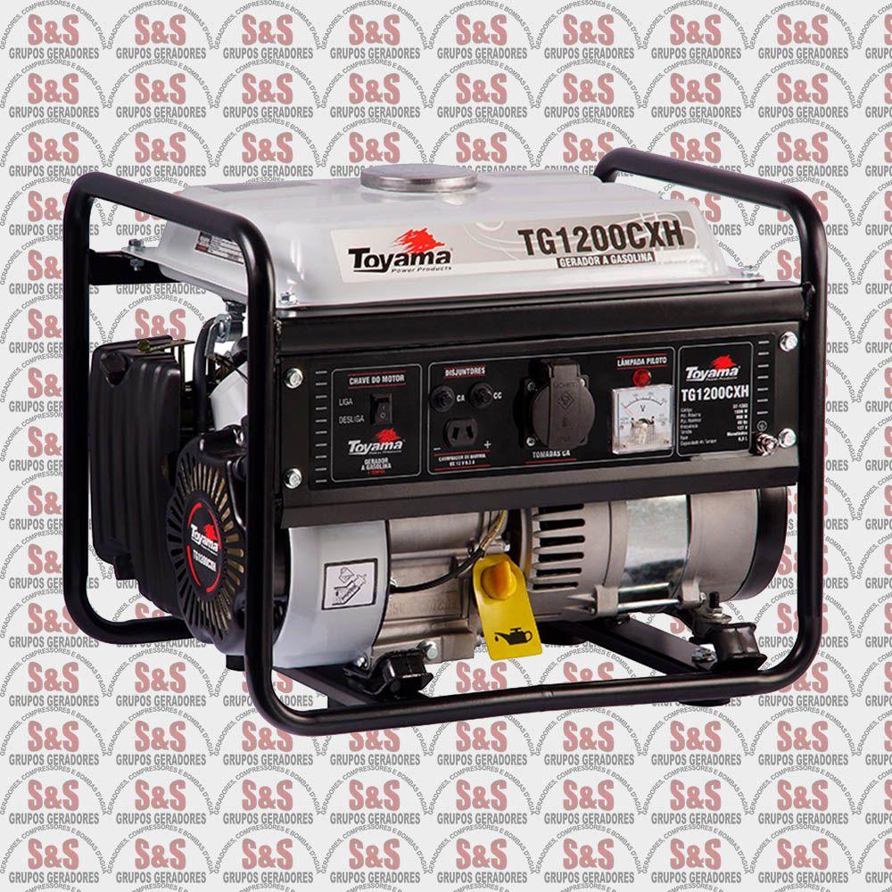 Gerador de Energia a Gasolina 1000 Watts - Monofásico 220V - Partida Manual - TG1200CXH-220 - Toyama
