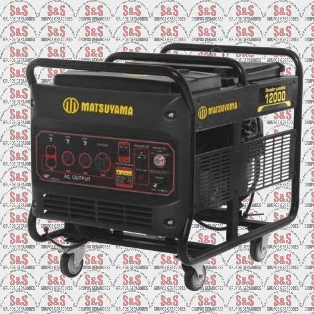 Gerador de Energia a Gasolina 12KVA - 4 Tempos  Monofásico 110/220V - Partida Eletrica - 12000 - Matsuyam
