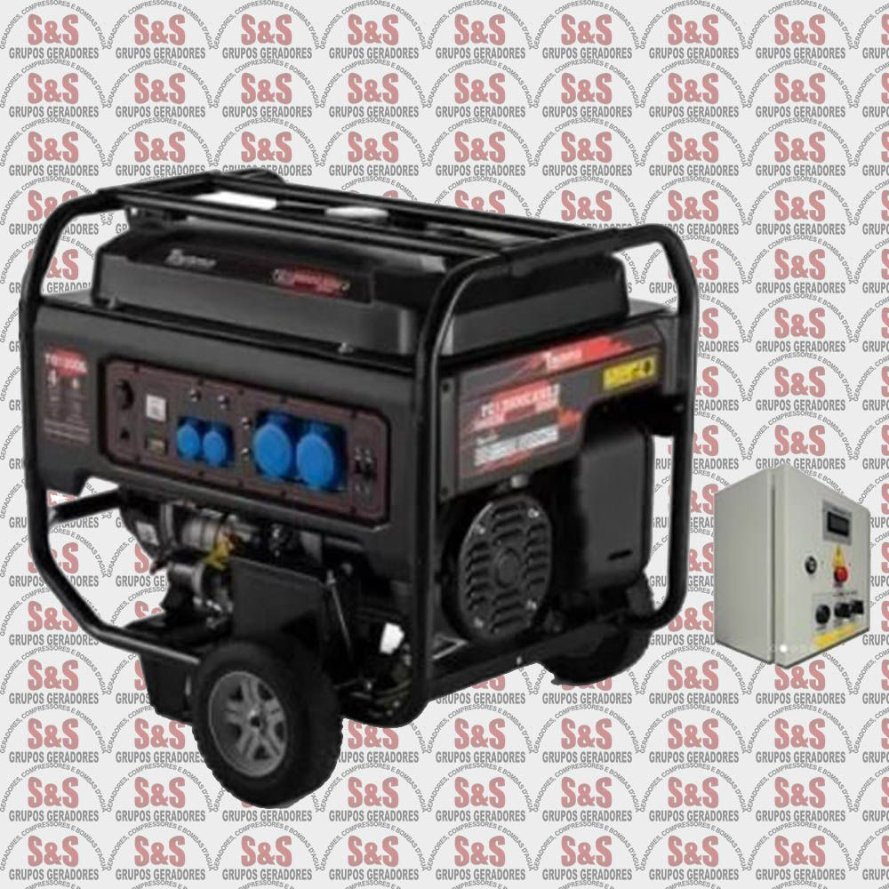 Gerador de Energia a Gasolina 13 KVA - Trifásico 220V - Partida Elétrica - TG12000CXNE3D QTA- Toyama