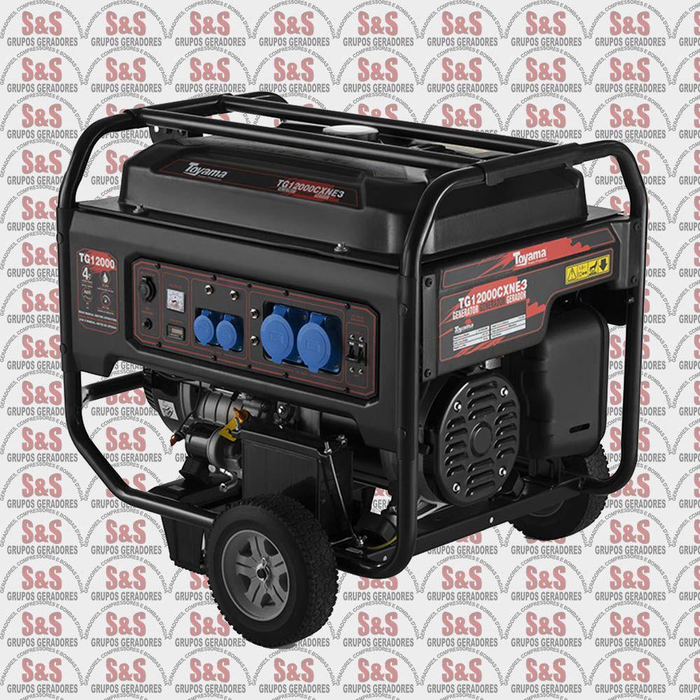 Gerador de Energia a Gasolina 13 KVA - Trifásico 220V - Partida Elétrica - TG12000CXNE3D - Toyama