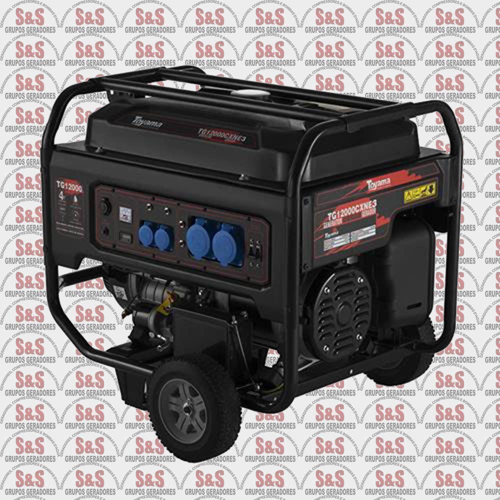 Gerador de Energia a Gasolina 13 KVA - Trifásico 380V - Partida Elétrica - TG12000CXN3E - Toyama