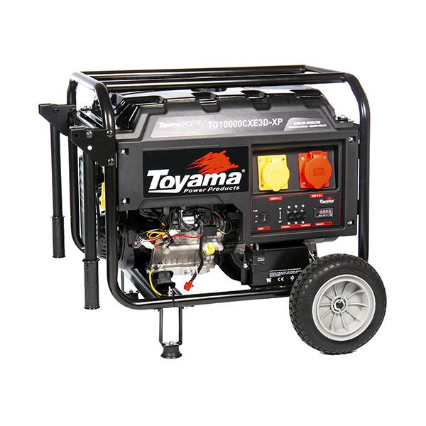 Gerador de Energia a Gasolina -  16 HP - 220V Trifásico - TG10000CXE3 - XP - Toyama