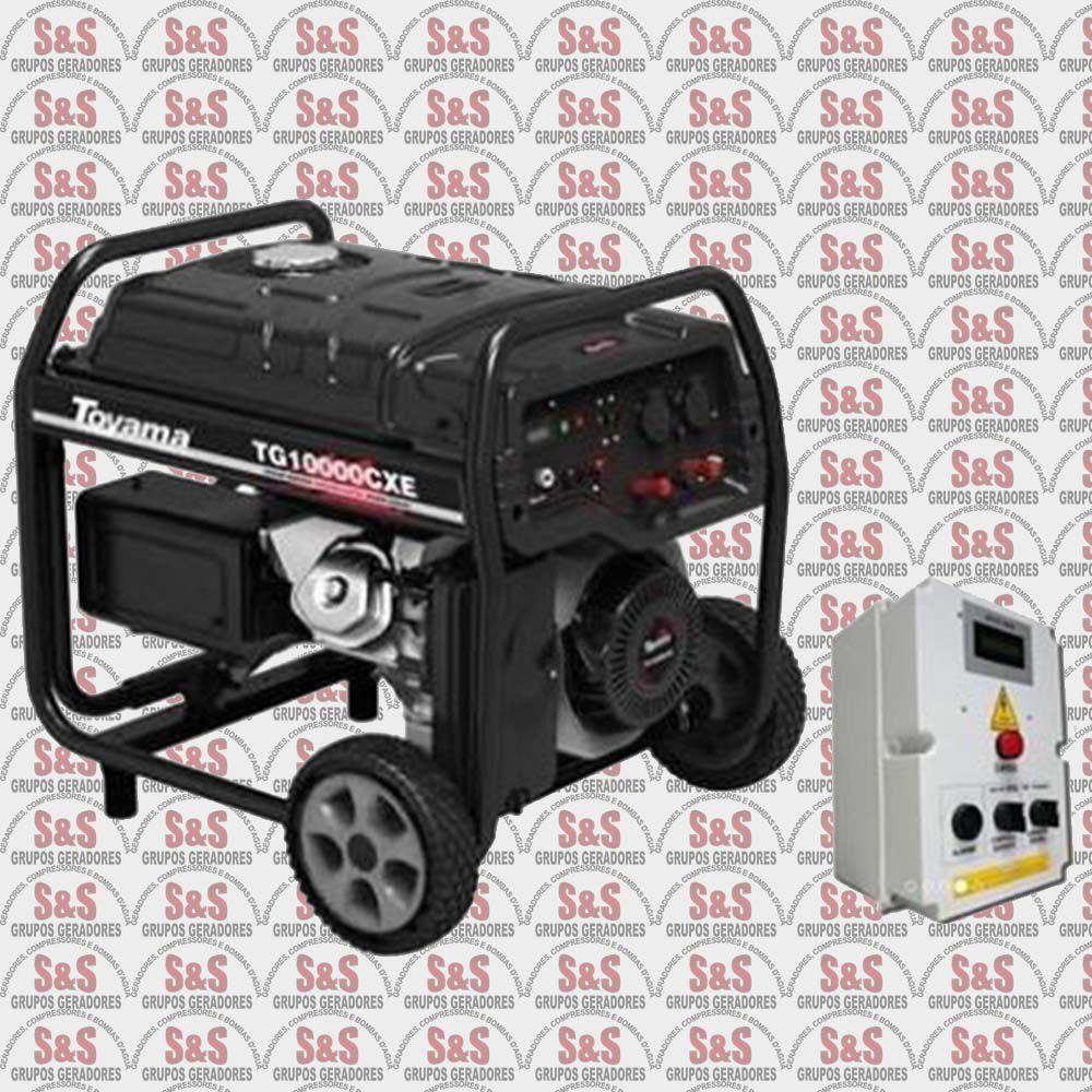 Gerador de Energia a Gasolina - 16 HP - 220V Trifásico - TG10000CXE3QTA - Toyama