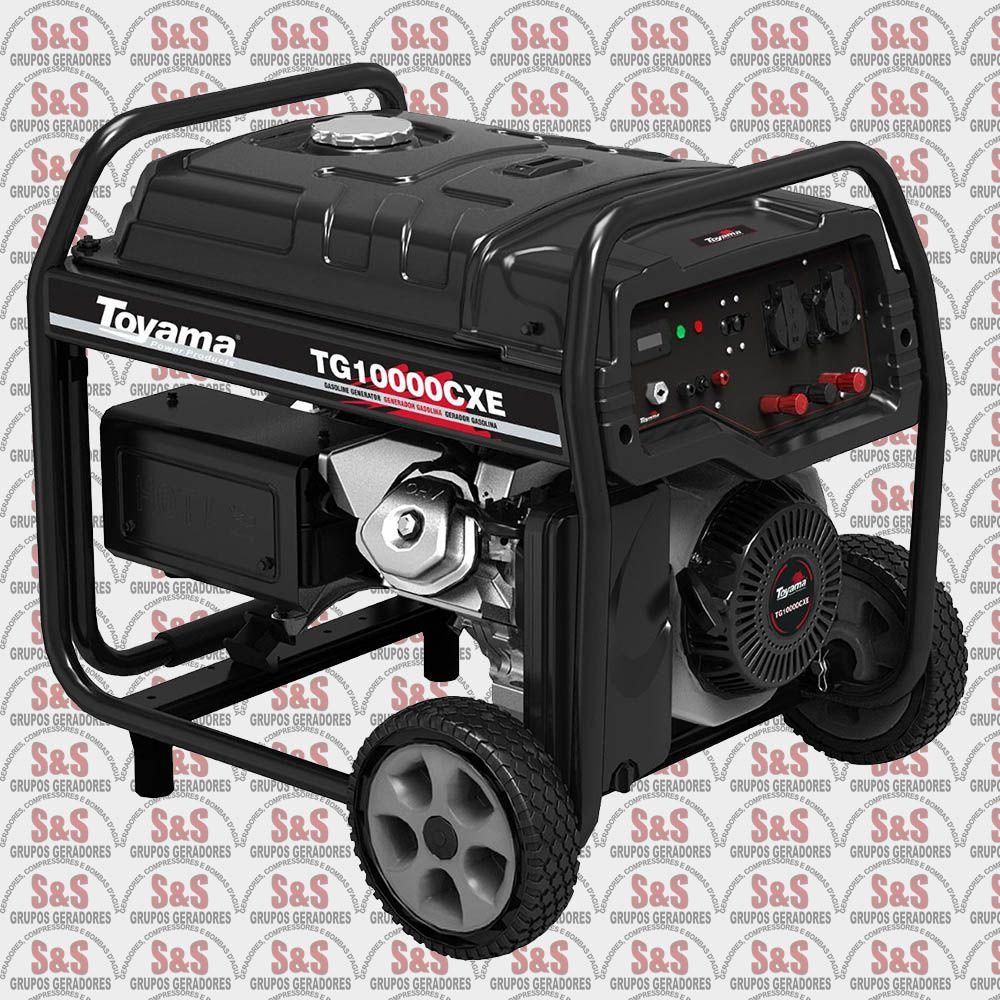 Gerador de Energia a Gasolina - 16 HP Monofásico - TG10000CXE-XP - Toyama
