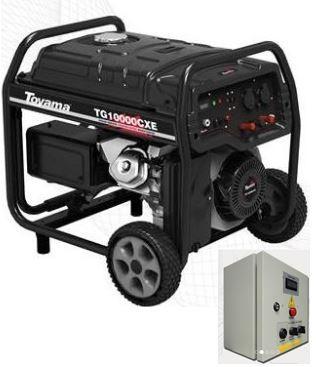 Gerador de Energia a Gasolina - 16 HP Monofásico - TG10000CXEQTA - Toyama