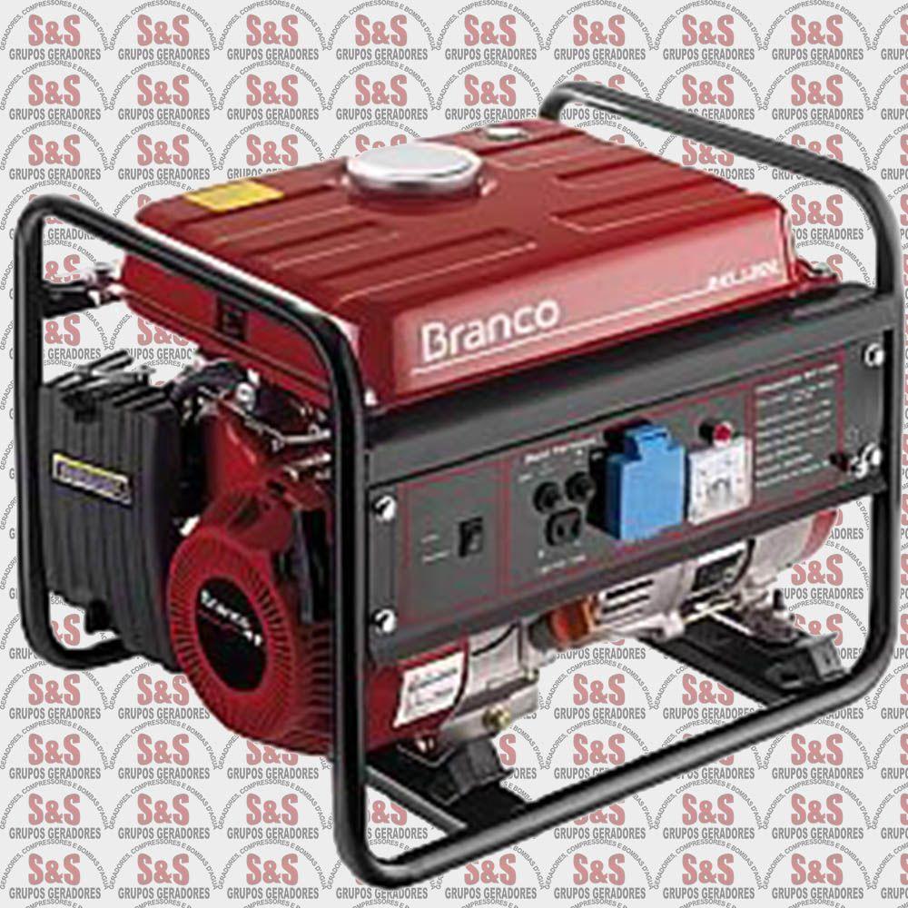 Gerador de Energia a Gasolina 1.3 KVA - Monofásico - Partida Manual - B4T1300 - 220 V - Branco