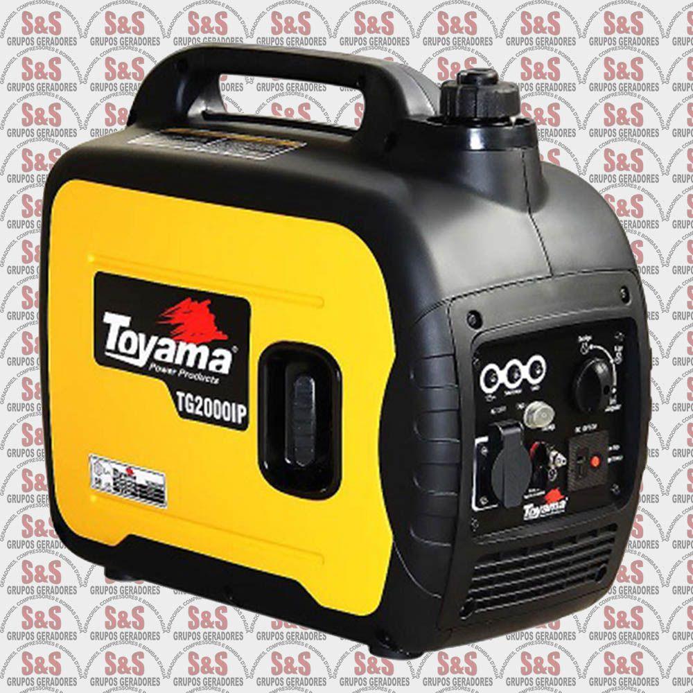Gerador de Energia a Gasolina 1.8 KVA - Monofásico 110V - Portátil - TG2000IP-110 - Toyama