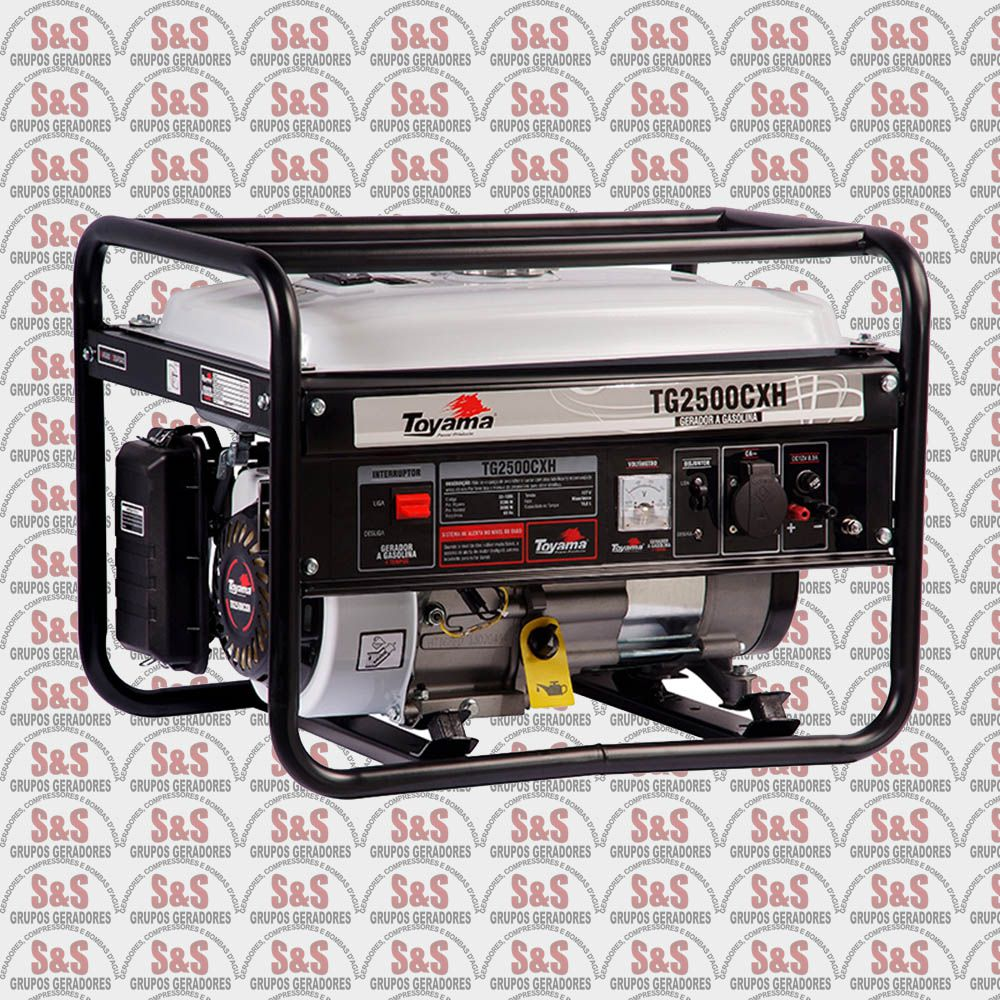 Gerador de Energia a Gasolina 2200 Watts - Monofásico 220V - Partida Manual - TG2500CXH-220 - Toyama
