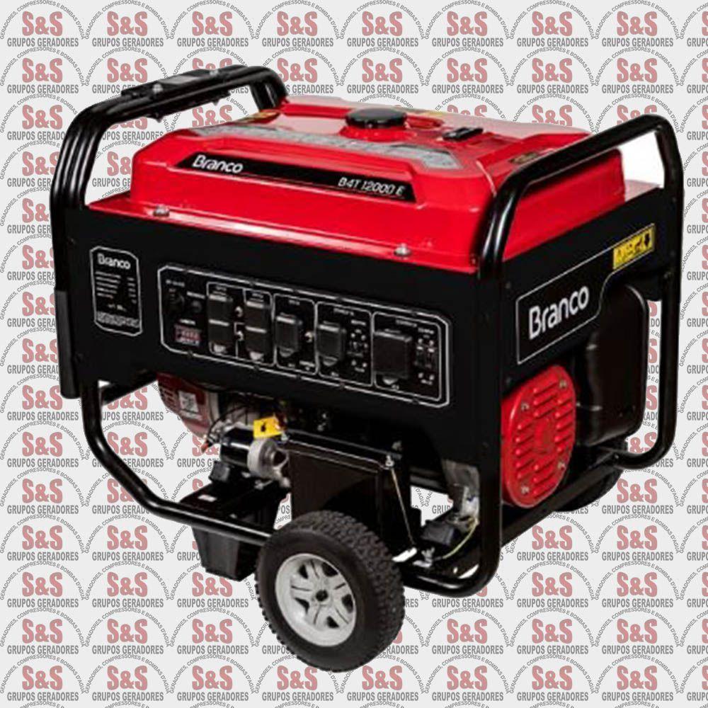 Gerador de energia a Gasolina 220v - Monofásico - 13KVA B4T12000 E - BRANCO