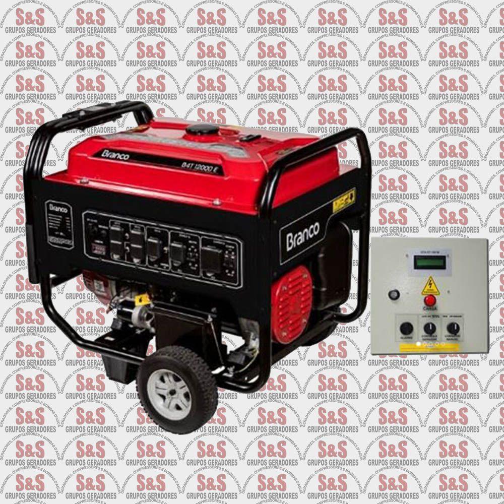 Gerador de energia a Gasolina 220v - Monofásico - 13KVA B4T12000 E QTA - BRANCO