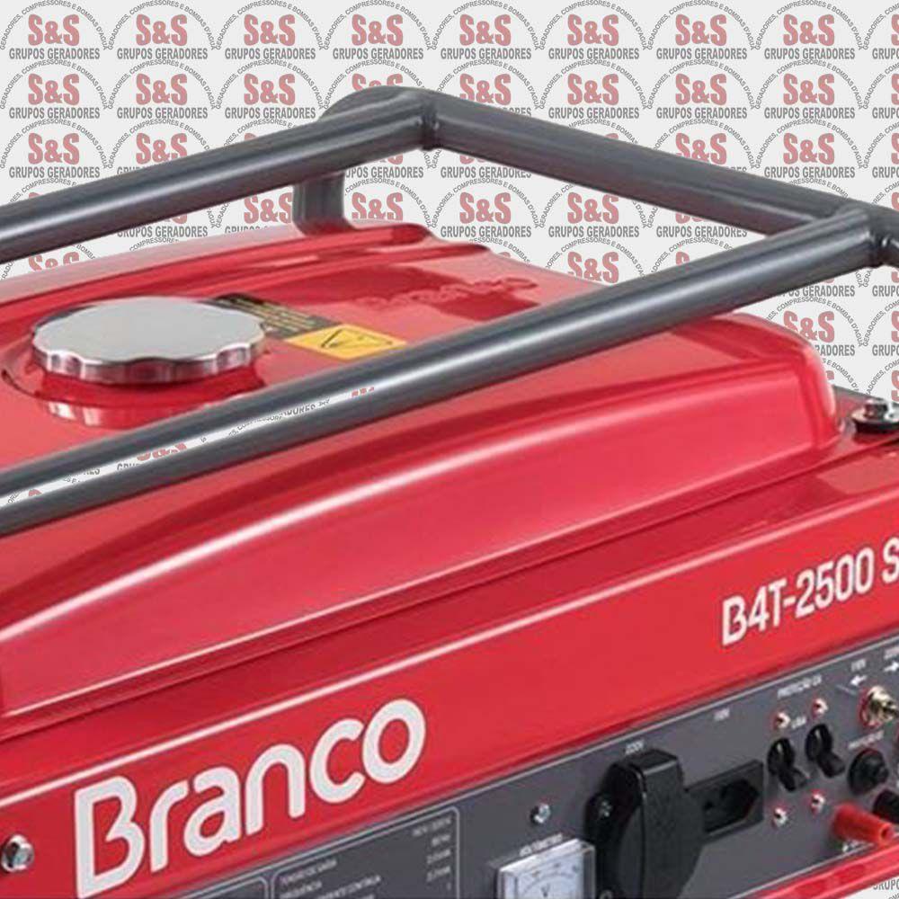 Gerador de Energia a Gasolina 2.2 KVA - Monofásico - B4T2500S-Com Chave Seletora  Branco